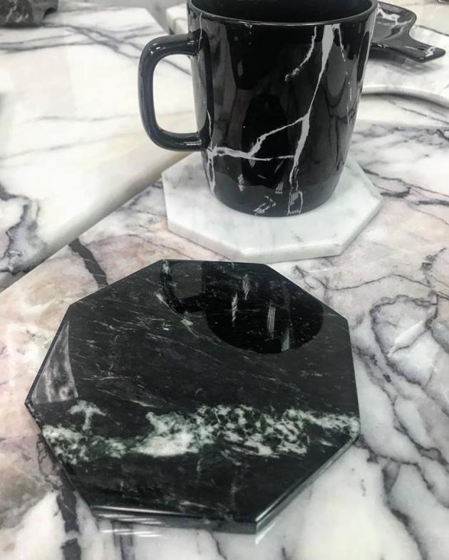幾何杯墊-鑽石八邊 1